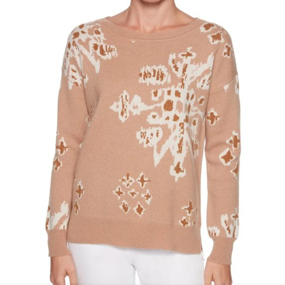 NEW Magaschoni Small Snowflake Cashmere Sweater
